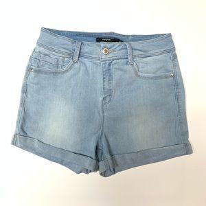 Harper Denim High Waisted Cuffed Shorts Size 27